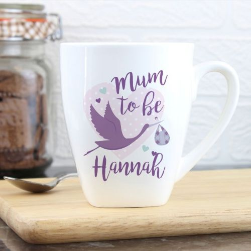 Mum to Be Stork Latte Mug